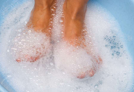 spume: woman legs in relax spume