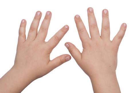 Kind-Hände isoliert auf weiß Lizenzfreie Bilder