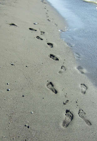 footprints on a sand beach Stock Photo - 3710453