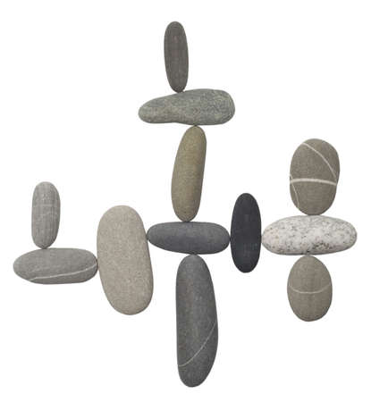 pebble stones isolated on white photo