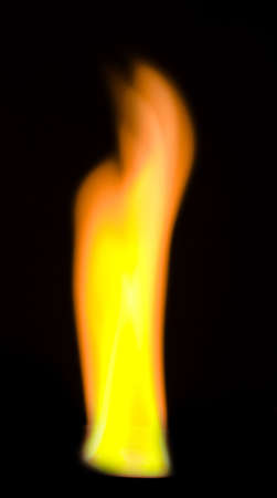 shockwave: a fire over black background Stock Photo