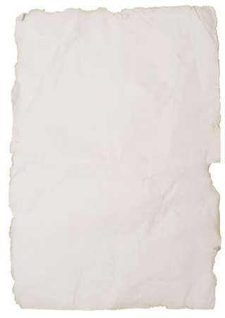 rauhes Papier isolated on white