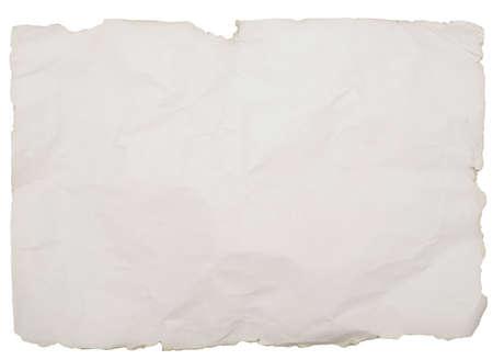 Altpapier mit Ecken und Kanten isoliert auf weißem