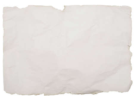 torn: old paper with rough edges isolated on white