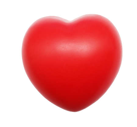 red heart isolated on white photo