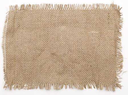 sackcloth material isolated on white photo