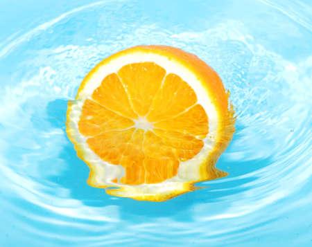 orange fruit in water splash Stock Photo - 3946419