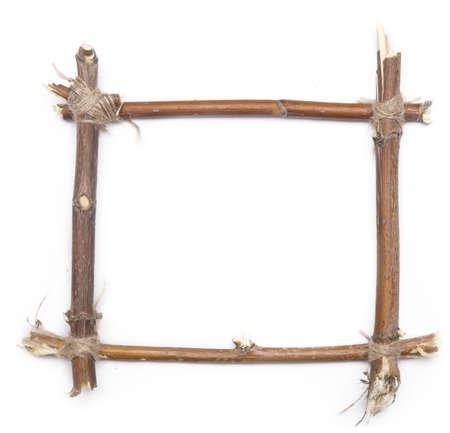 Zweig Frame über weißen Hintergrund Lizenzfreie Bilder
