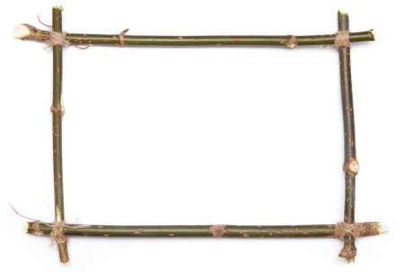 Zweig Frame über weißem Hintergrund