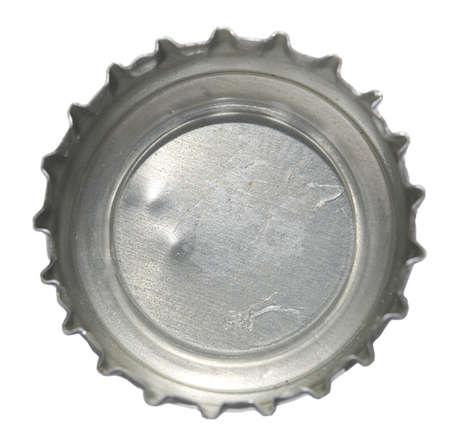 metallic cap isolated on white photo