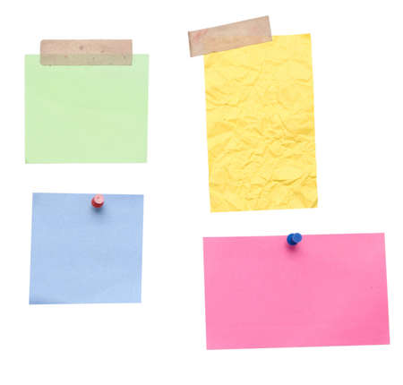 empty notes over white background Stock Photo - 4004906