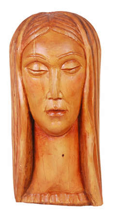 wooden sculpture over white background Stock Photo - 4144944