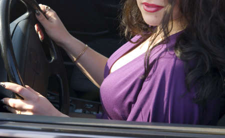 female sexy chains: pretty sexy woman in the car