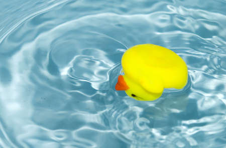 failed attempt: yellow rubber duck on a water