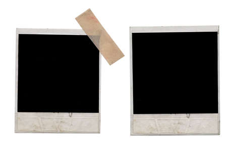 photo frames on a white background photo