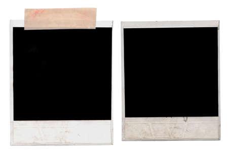 Polaroids auf weißem Hintergrund