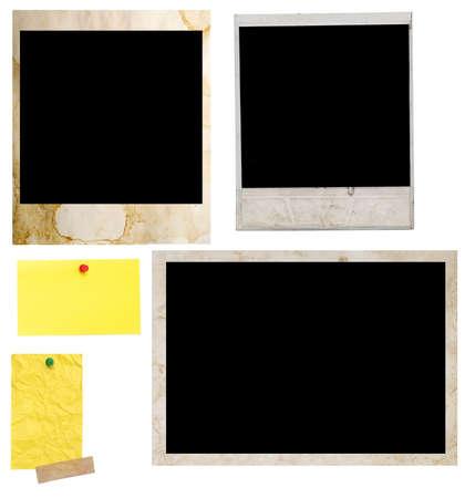 white polaroids: polaroids and photo frame on a white