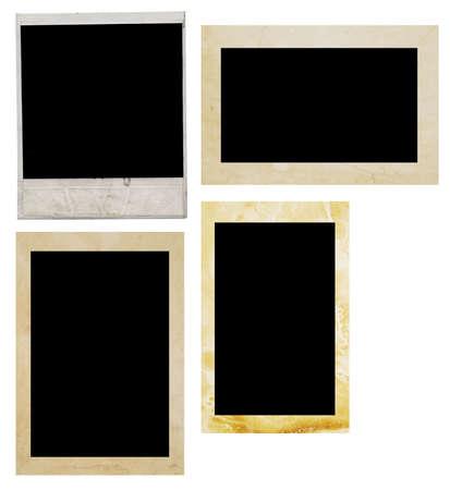 white polaroids:  photo frame on white