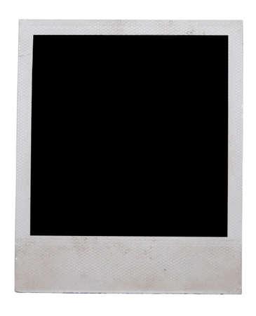 polaroid frame: polaroid frame isolated on white
