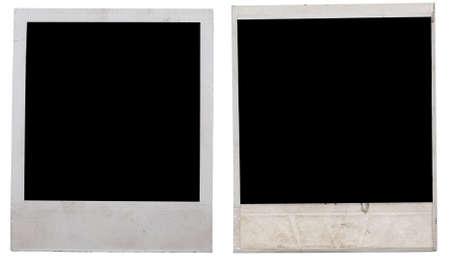white polaroids: two polaroids isolated on white