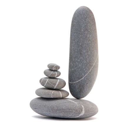 pebble tower isolated on a white background photo