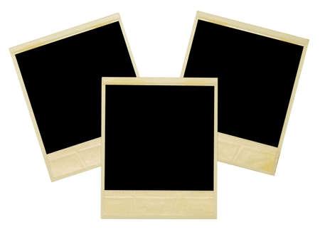 Polaroids Rahmen Isolated on white Lizenzfreie Bilder