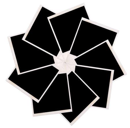 white polaroids: polaroids frames isolated on white