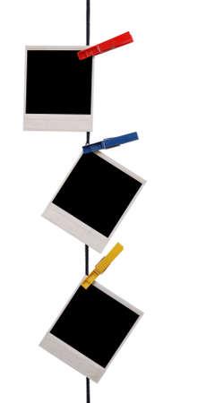 varal: molduras isolado no branco Banco de Imagens