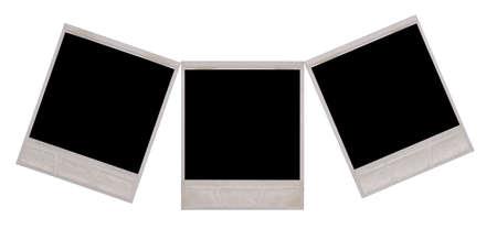 white polaroids: polaroids isolated on a white background Stock Photo