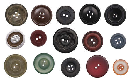 buttons sew: buttons isolated on a white background Stock Photo