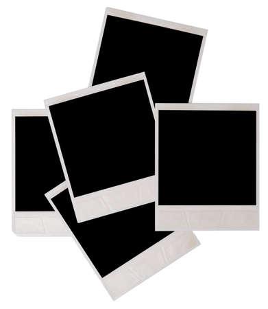 white polaroids: photo frames isolated on white Stock Photo