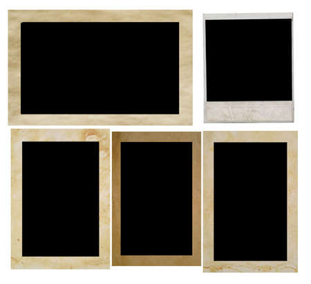photo frames geïsoleerd op wit