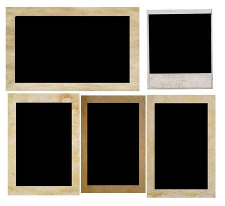 photo frames isolated on white Stock Photo - 4982781