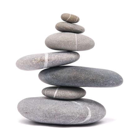 Ausgleich Steine isoliert auf weißem Standard-Bild