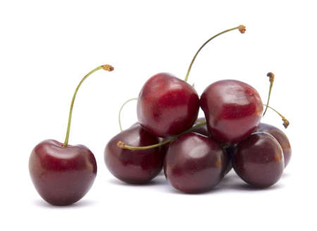 cherries isolated on white background photo