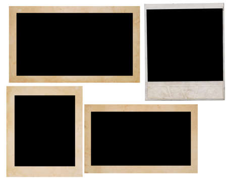 confines: photo frames isolated on white Stock Photo