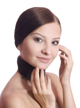 beauty woman with health skin over white Stock Photo - 5165274