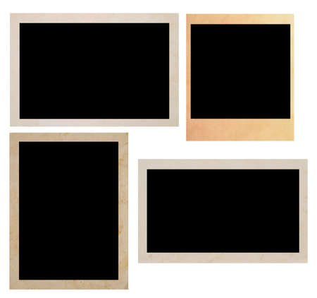 old photo frames isolated on white photo