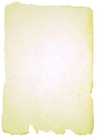 Papierstruktur über weißem Hintergrund