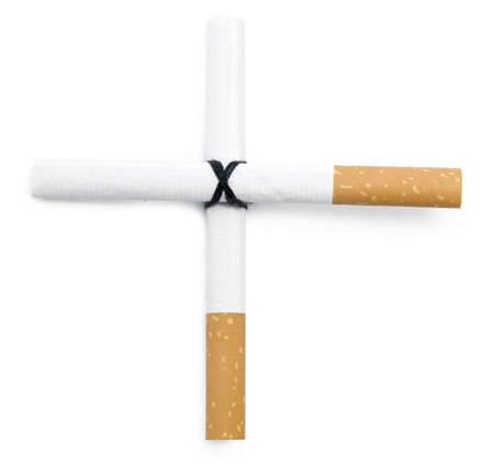 cigarette cross isolated on white Stock Photo - 5565316