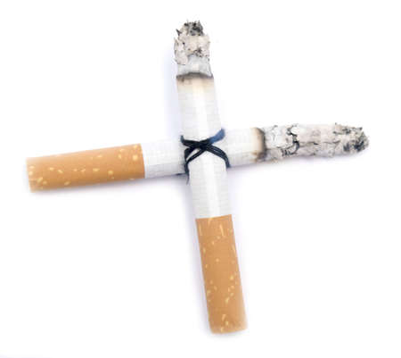 cigarette cross isolated on white Stock Photo - 5565317
