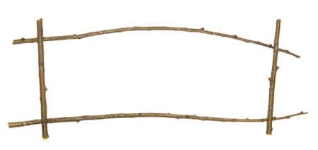 Zweig Frame isoliert auf weiß