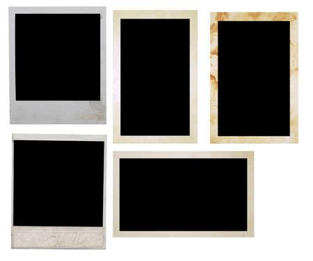 foto frames op wit wordt geïsoleerd