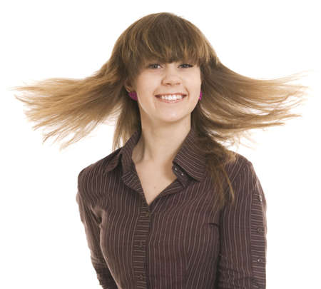happy teen over white background Stock Photo - 6340866