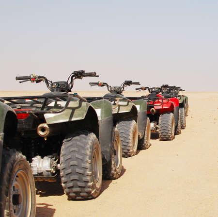 quad bikes in desert Stock Photo - 6630125