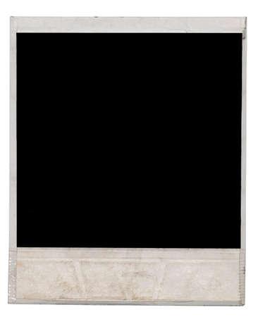 white polaroids: photo frame isolated on white