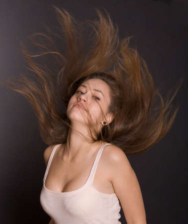 fling: young woman with beautiful hair
