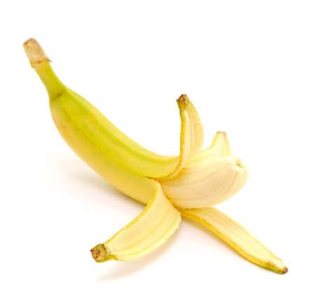 peeled banana: peeled banana isolated on white