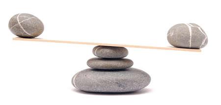 Balancing Steine ??auf weiß