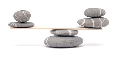 balancing stones on white Stock Photo - 10741958